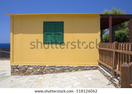 Blue and yellow, the combination for traditional Mediterranean architecture