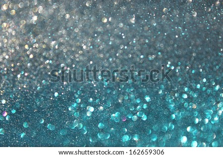blue ans silver defocused lights background. abstract bokeh lights. - stock photo
