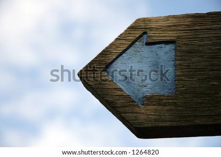 Blue arrow - stock photo