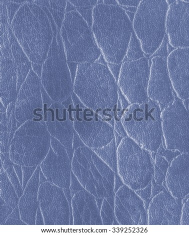 blue artificial snake skin texture  closeup. Useful for background - stock photo