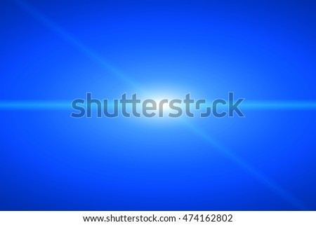 Blue background lighting in the middle