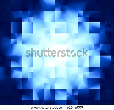 blue background with geometric shapes abstraction - stock photo