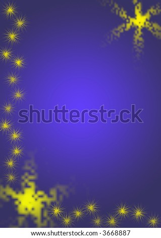 Blue background with scratchy star design - stock photo