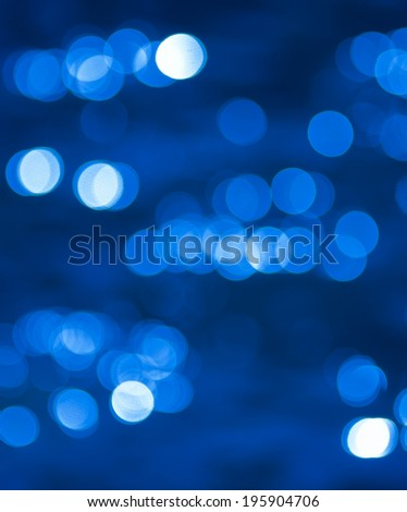 Blue background with small bubbles