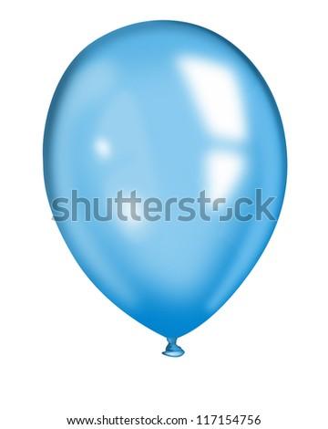 blue  balloon - stock photo