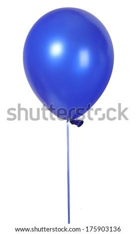 Blue balloon font part of full set upper case letters M - stock photo