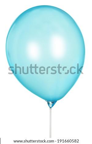 blue Balloon Isolated On White Background  - stock photo