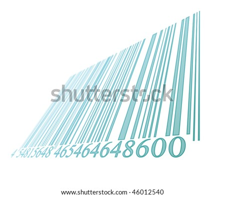 blue bar code on a white background - stock photo