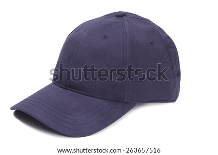 Blue baseball cap - stock photo