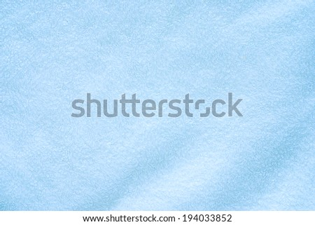 blue bath towel - stock photo