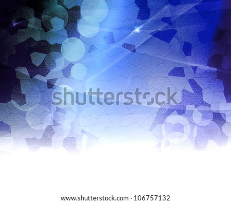 Blue Biological Abstract Background - stock photo