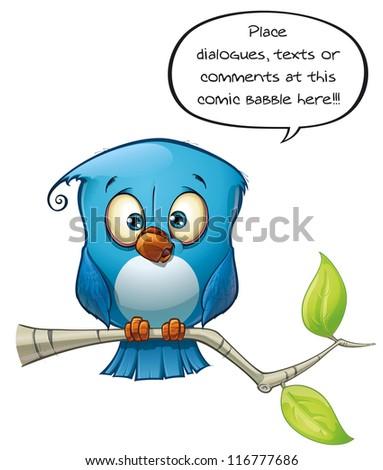 Blue Bird Open - stock photo