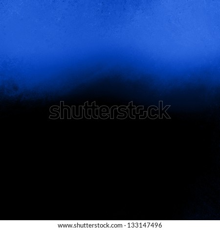 blue black background abstract wavy border, vintage grunge background texture design website header background template, art paint canvas wall, sapphire blue paper stain black background curve element - stock photo
