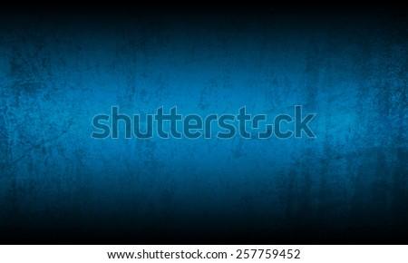 Blue black grunge background texture - stock photo