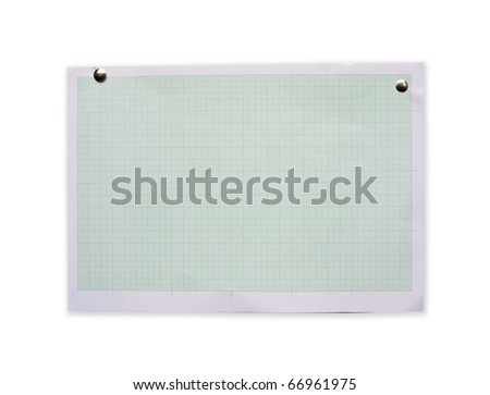 Blue blank Graph paper isolate - stock photo