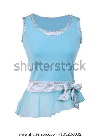 blue blouse - stock photo