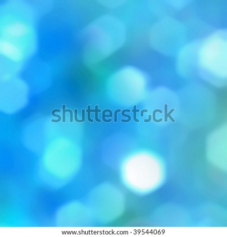 blue blur bokeh - stock photo