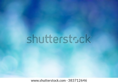 blue blur bokeh abstract background   - stock photo