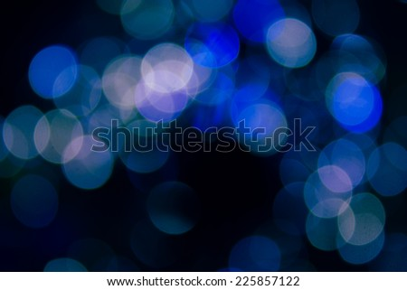 Blue blurred lights in the night