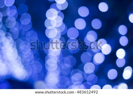 Blue bokeh,Abstract background with bokeh defocused lights and shadow