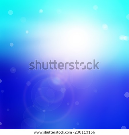 blue bokeh abstract light background - stock photo