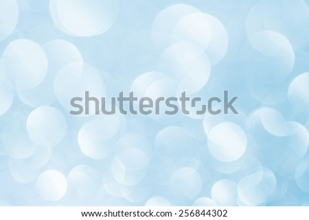 Blue bokeh abstract light sea sky background