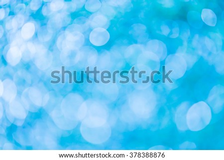 Blue bokeh background