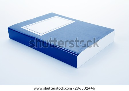 Blue book close up shot - stock photo