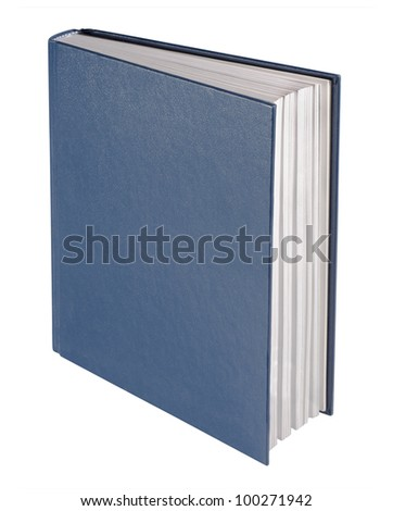 Blue book, isolated - stock photo