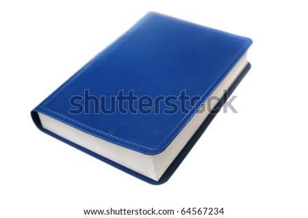 blue book isolated on a white bakcground