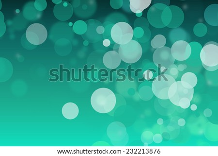 Blue bright background with a lot of abstract circles - stock photo