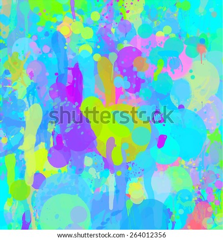 Blue bright brush strokes background. Raster version  - stock photo