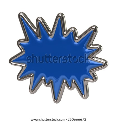 Blue bursting star icon - stock photo