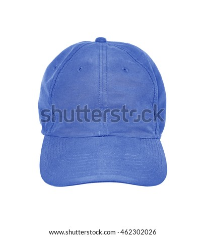 blue cap isolated on white background