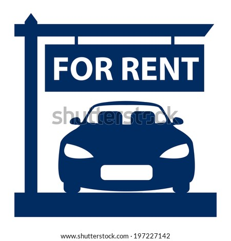Red Car Hire Car Rental Service Stock Illustration 197227115