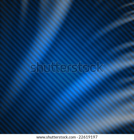 Blue carbon fiber fabric weave silk material background.