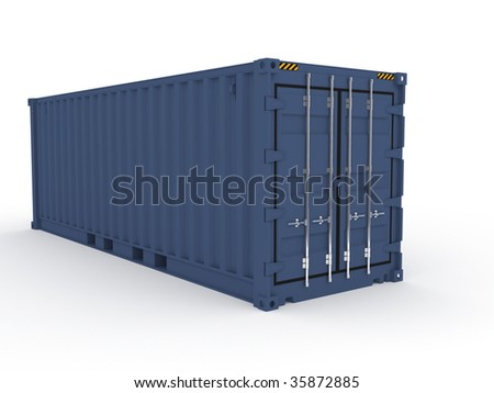 blue cargo sea container (more variants on my portfolio)