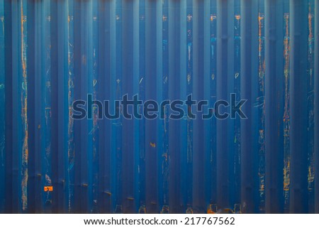 blue cargo ship container texture - stock photo
