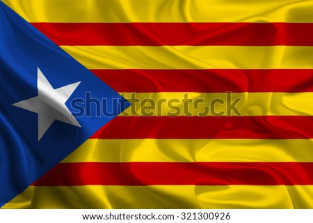 Blue Catalan independence flag - stock photo