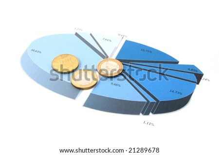 blue cell phone over business chart showing success - stock photo