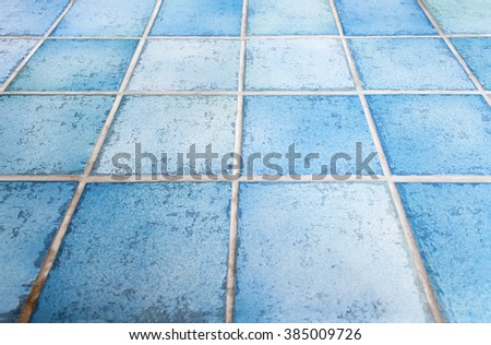 Blue ceramic tiles - Bar, table, floor, wall -  Background. - stock photo