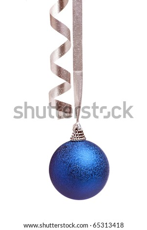 blue chistmas decoration - stock photo