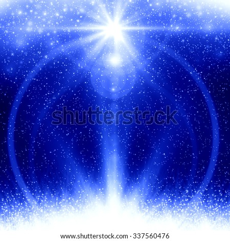 Blue christmas abstract background - stock photo