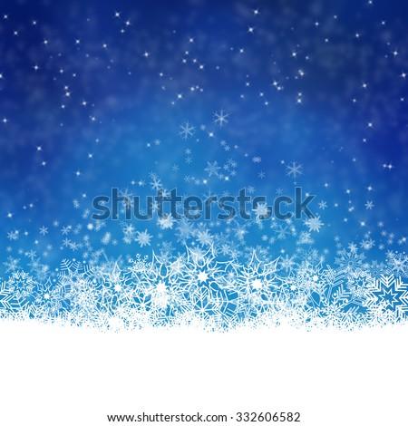 blue christmas background texture - stock photo