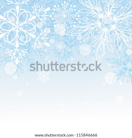 Blue Christmas Background with Copy Space