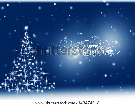 Blue Christmas tree background. Merry Christmas. Winter background  - stock photo