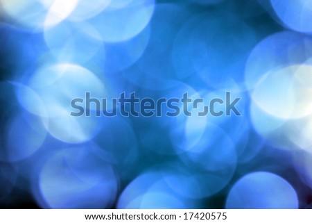 blue circular reflections - stock photo