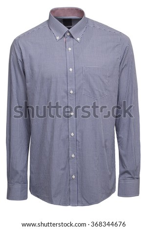 Blue classic checkered shirt