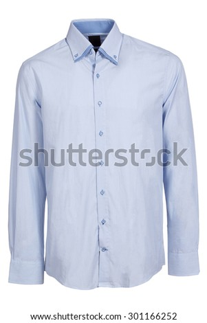 blue classic long sleeve shirt