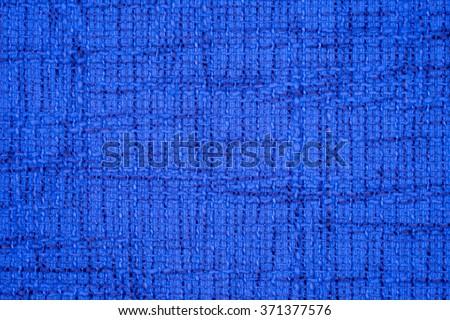 Blue cloth background fabric - stock photo